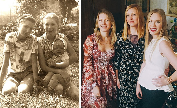 Me And My Sisters Growing Up. 1993 и 2016 годах