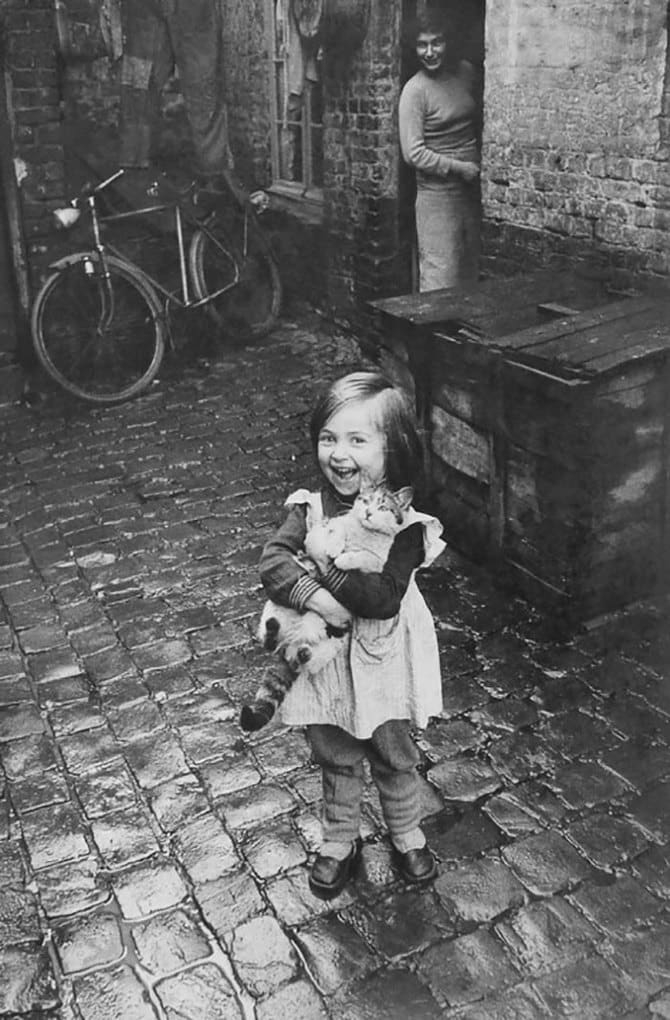 Happy French Girl And Her Cat, 1959