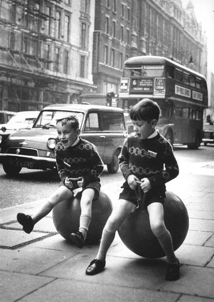 Kids Playing With Skippy Balls, London