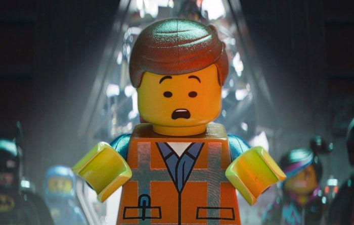 In The Lego Movie... Whenever A Character Had A Shiny Surface On Them, You Can See A Thumbprint Clearly On The Surface