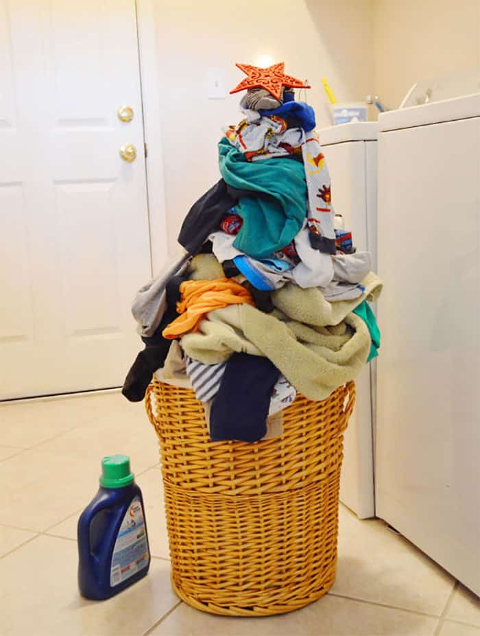 Laundry Christmas Tree