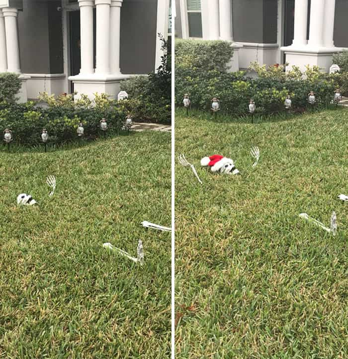 "Next Day After Halloween: ""Finally Finished The Christmas Decorations!"""