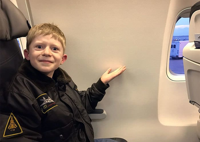 We, Too, Booked A Window Seat On An Airplane For My Boy
