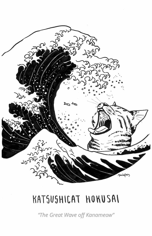 Katsushicat Hokusai