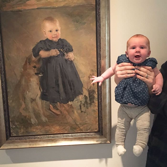 Мы нашли Доппельгангера нашего ребенка в галерее