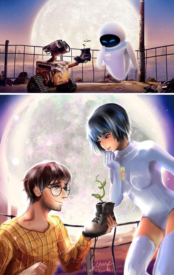 Wall-E и Eve Humanization