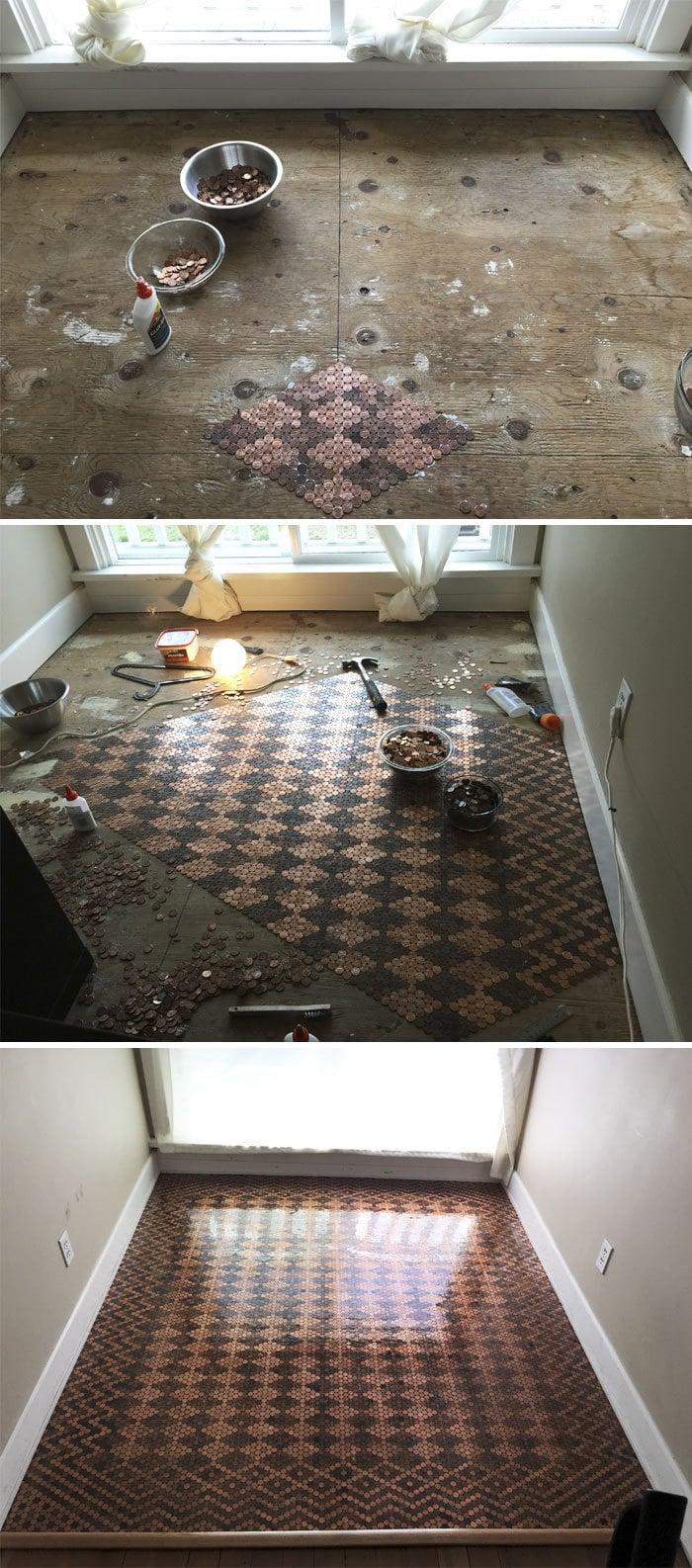 Penny Floor. Около $ 130 в Пенни