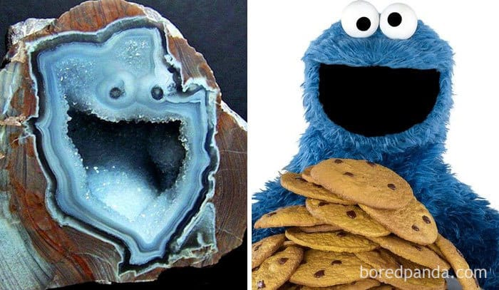 This Geode Looks Like Cookie Monster