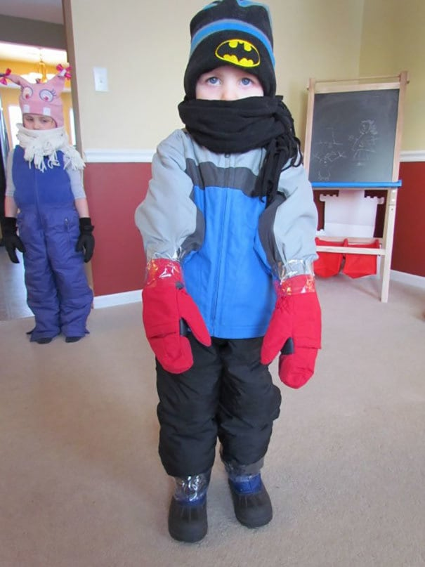 Avoid Snow In The Gloves By Using Tape To Cover The Gaps