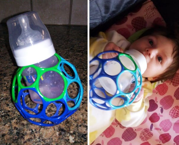 Make A DIY Bottle Holder So That Babies Can Hold It Themselves