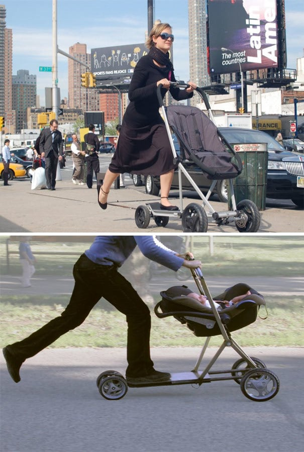 Get A Baby Stroller And Scooter Hybrid To Make Strolling More Fun