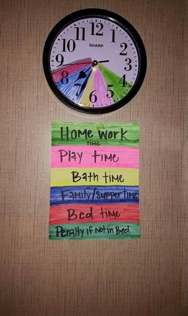 Color Their Routine And Teach Time Management