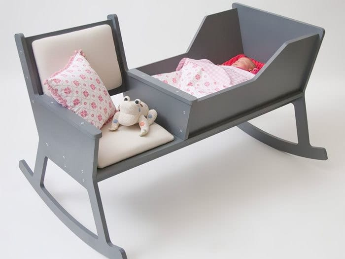 Rocking Chair And Cradle In One