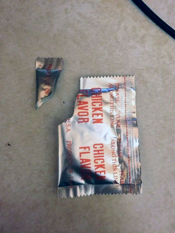 Spent 30 Mins Looking Through The Trash For This Packet To Prove To My Girl The Corner Wasn