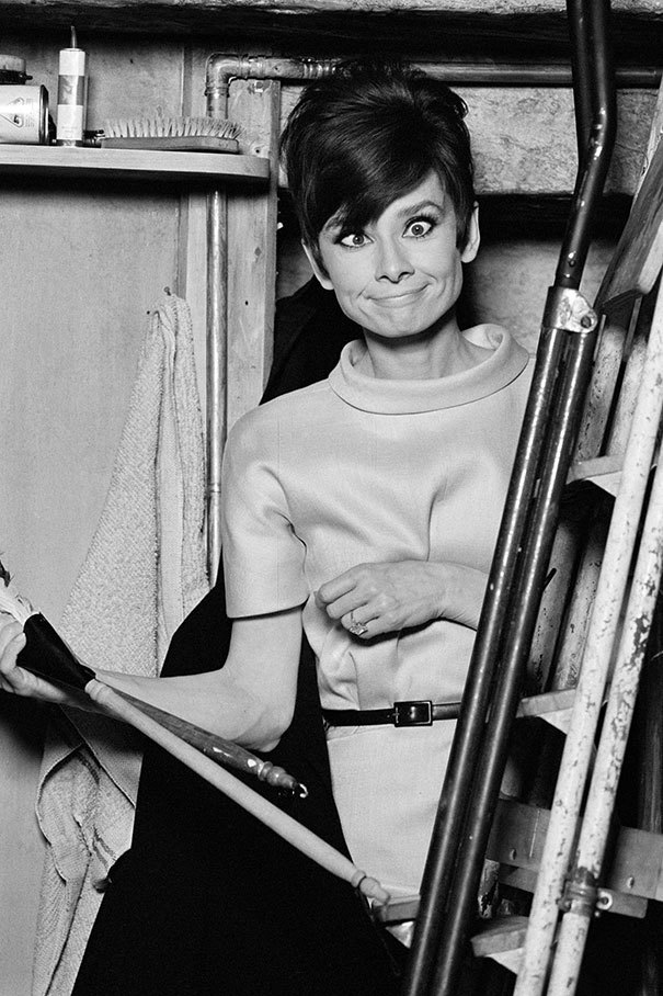 Audrey Hepburn Pulls A Funny Face On The Set Of The Romantic Comedy How To Steal A Million In Paris In The 60