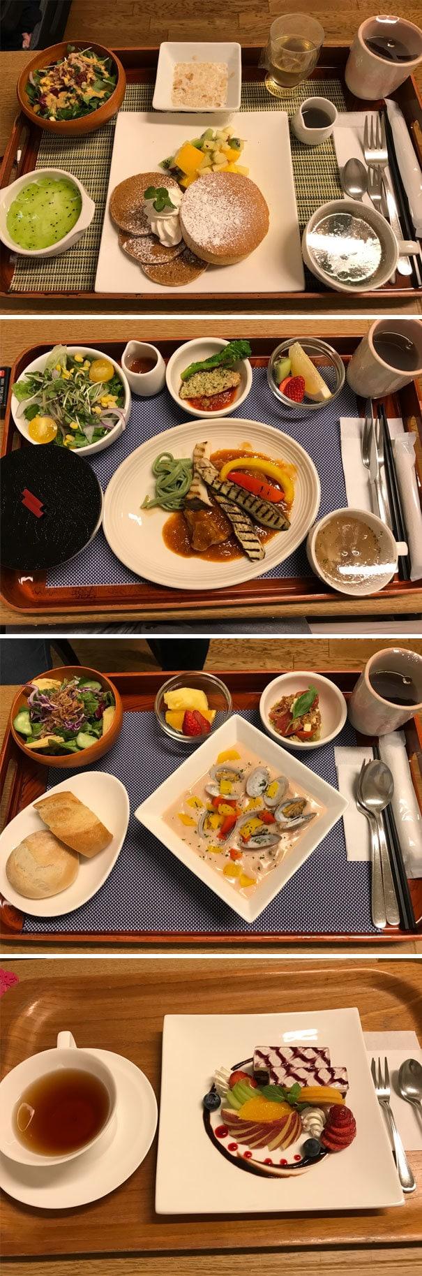Недавно я родился в Японии. Вот некоторые из больничной пищи, которую я съел