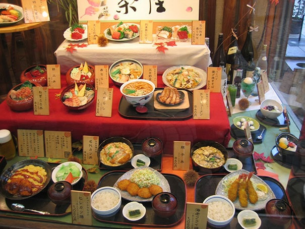 Restaurants In Japan Display Fake Food That Looks Just Like The Real One From The Menu