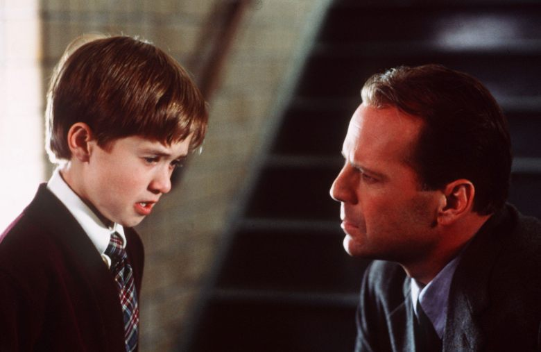 Editorial use only. No book cover usage.Mandatory Credit: Photo by Ron Phillips/Hollywood/Kobal/REX/Shutterstock (5879446e) Haley Joel Osment, Bruce Willis The Sixth Sense - 1999 Director: M. Night Shyamalan Hollywood Pictures USA Scene Still Mystery/Suspense The 6Th Sense Le sixième Sens