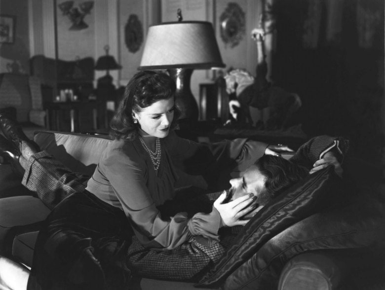"Simone Simon and Kent Smith in ""Cat People"""