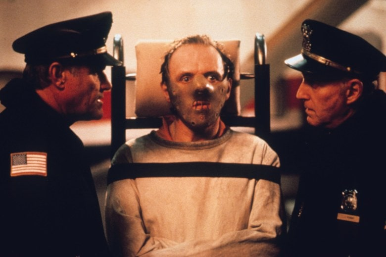 Editorial use only. No book cover usage.Mandatory Credit: Photo by Ken Regan/Orion/Kobal/REX/Shutterstock (5885695l) Anthony Hopkins The Silence Of The Lambs - 1991 Director: Jonathan Demme Orion Pictures USA Scene Still Thriller Le Silence des agneaux