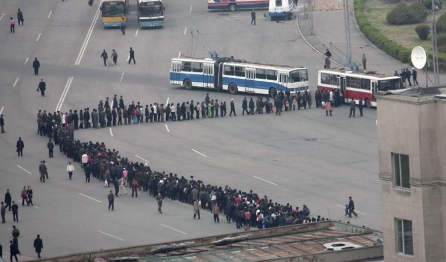 Queueing Is A National Sport For North Koreans