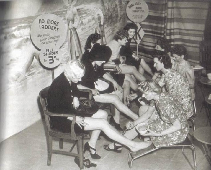 Rationing in WW2 meant that tights weren