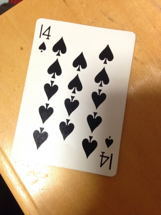 This 14 of spades.