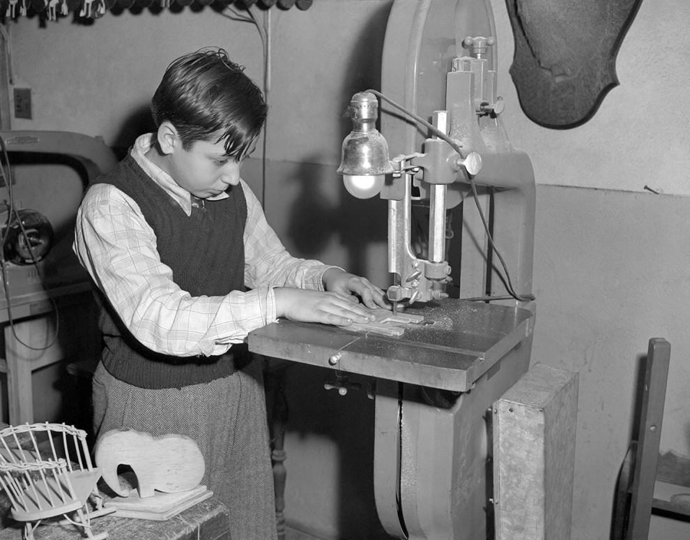 And when all else failed, a functioning power saw for building homemade toys, 1950s: