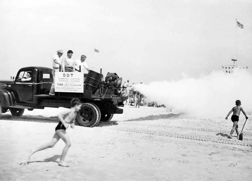 DDT insecticidal fogging machines, 1945: