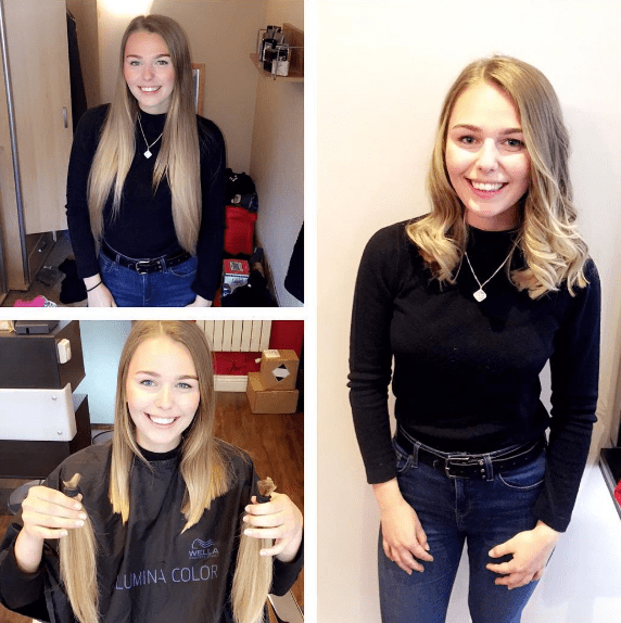 This woman, who generously donated 12 inches of her hair to a charity that makes wigs for children who can