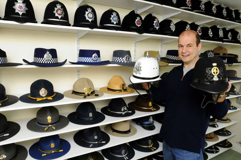Christian Duckett claims to possess the largest collection of policeman