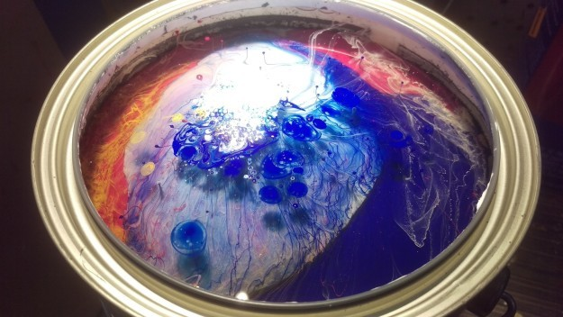 This can of paint, before the paint