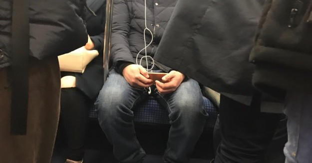 These headphones in the shape of a treble clef.