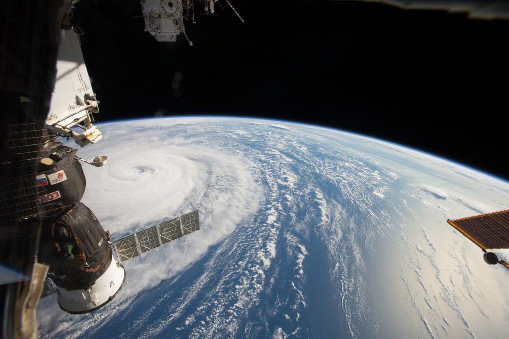 Supertyphoon Noru, seen from the International Space Station.