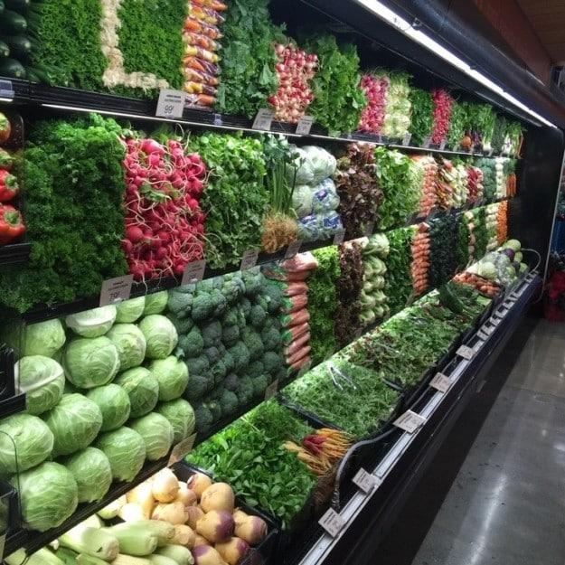 This stunningly neat produce aisle: