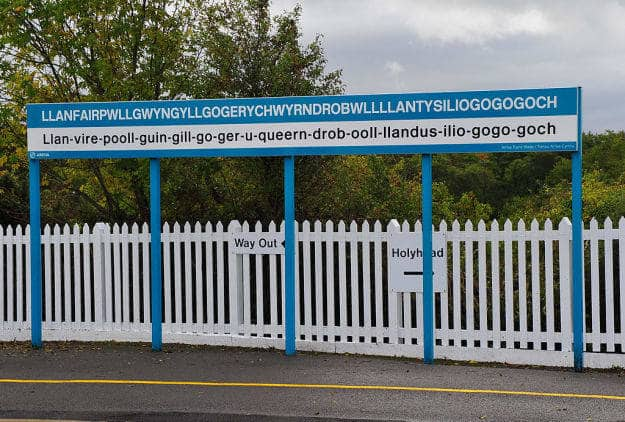 The name of this town in Wales is the longest single-word place name in Europe, and the second-longest in the world. The name was created in the 1860s in what