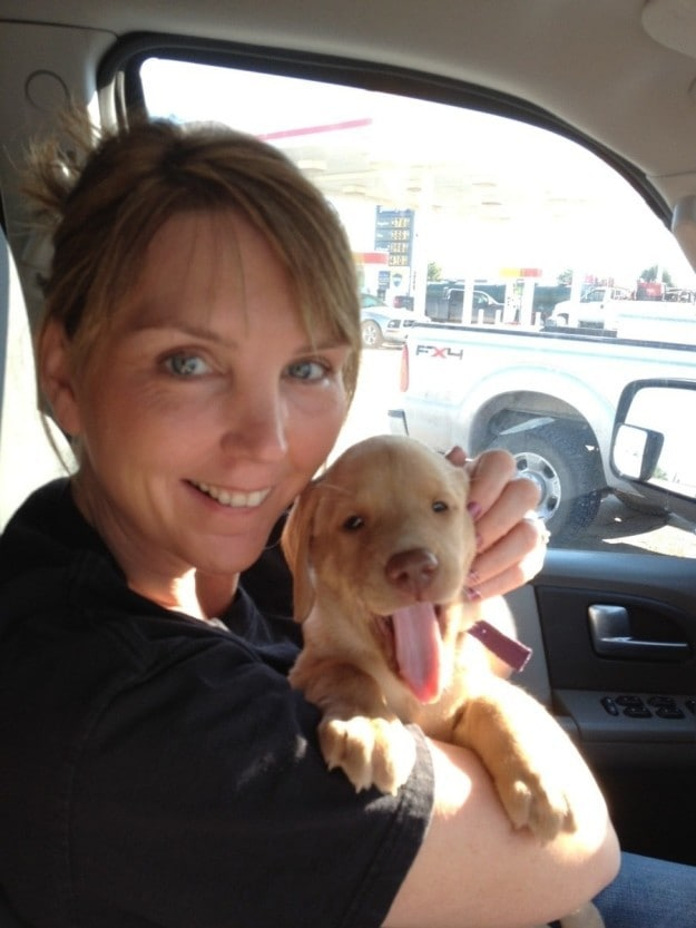And this baby who is on her way home with her new mom.