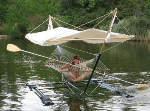 It's time for some you time. Maybe head to the nearest body of water and break out your sturdy hammock-raft hybrid.