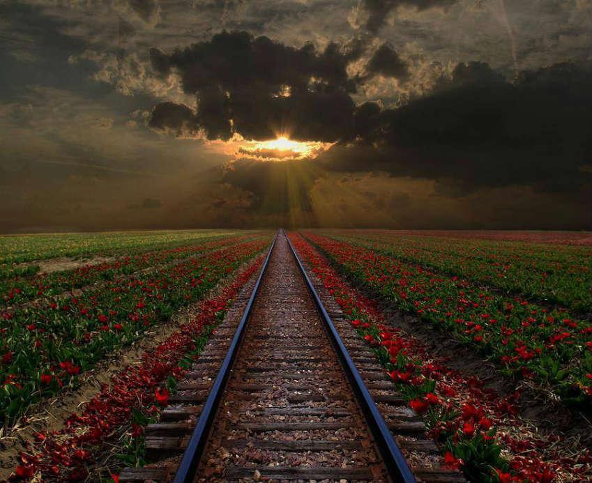 красивый закат румыния
