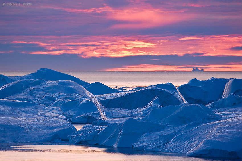 красивый закат гренландия
