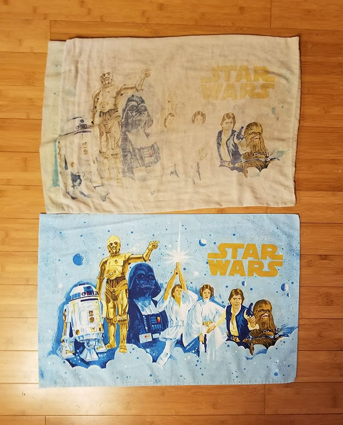 One Pillowcase Has Been Used Nearly Everyday For 40 Years. The Other Has Been In A Closet