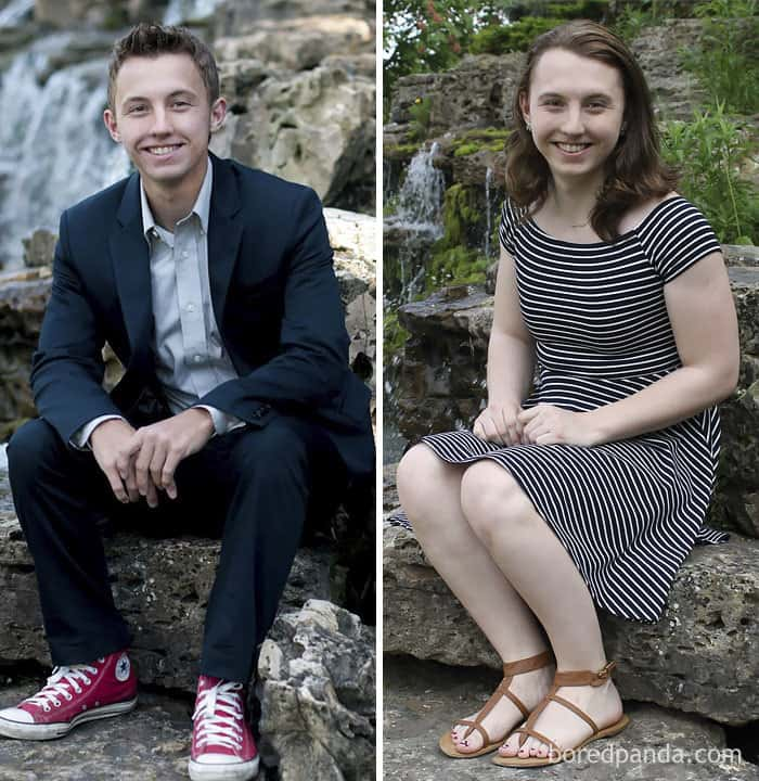 A Friend Helped Me Do A Reshoot Of Some Old Senior Pictures! 10 Months On HRT