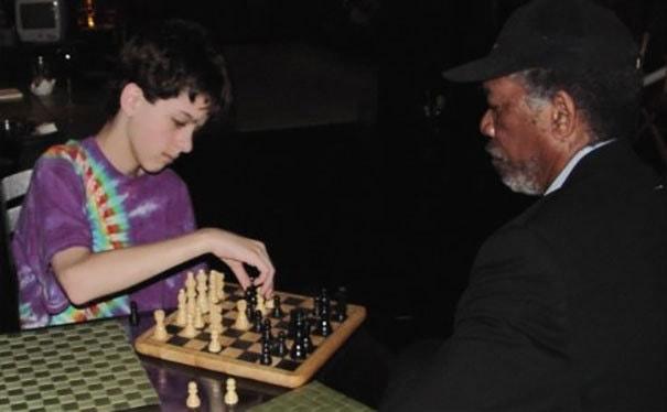 Когда я был 11, я играл в шахматы с Морганом Фриманом