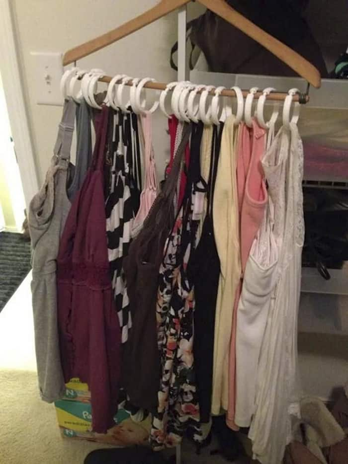 How To Fit All Your Tank Tops On A Single Hanger
