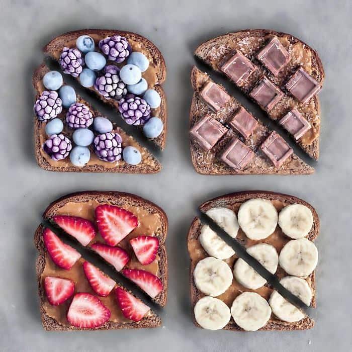 Vegan Colorful Food Arrangements