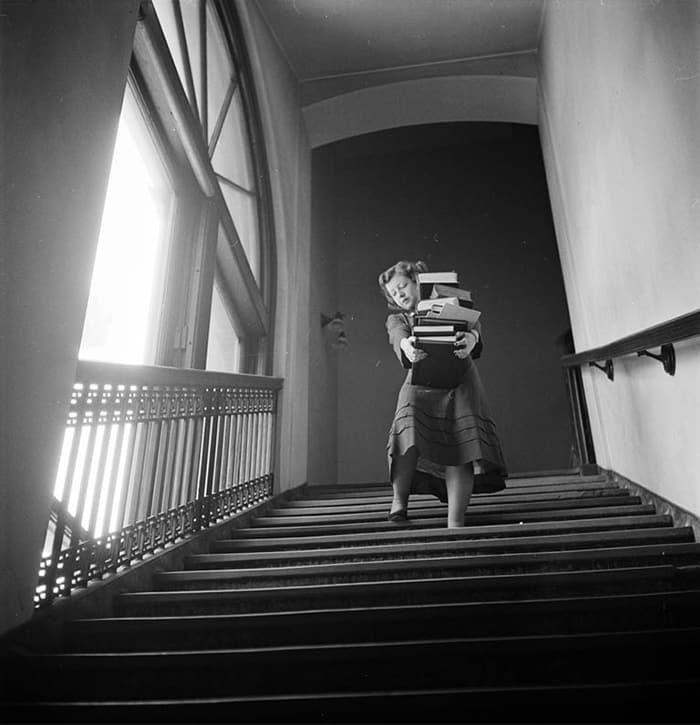 Студент в Колумбийском университете, 1948