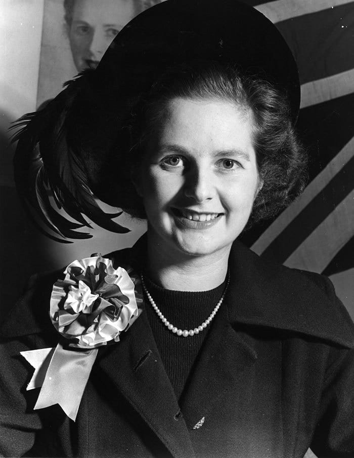 Young Margaret Thatcher Aka 'The Iron Lady', The Former Prime Minister Of The United Kingdom