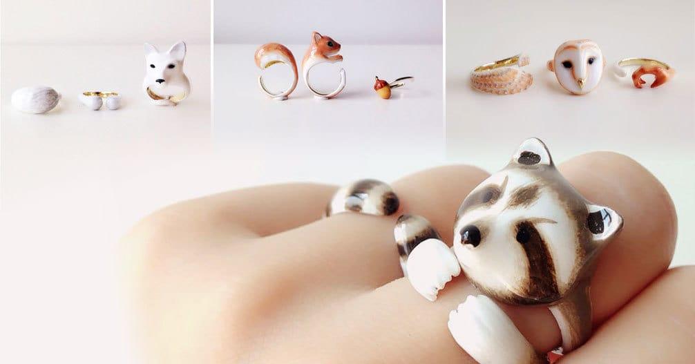 Эти кольца превращаются в животных, если их надеть вместе