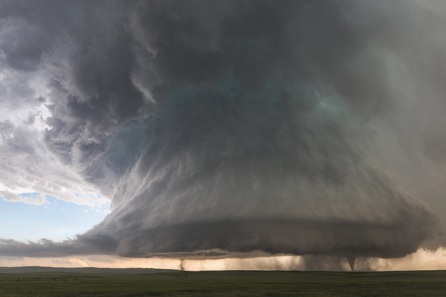 Sister tornados from a massive supercell outside of Simla, Colorado. Shot of a lifetime for me. I have been trying to get a shot like this for 6 years. I hope you enjoy!