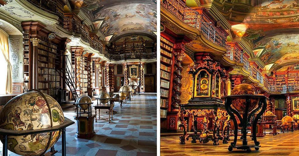 Самая красивая в мире библиотека находится в Праге